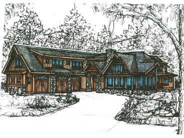 Craftsman House Plan, 025H-0205