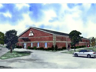 Church Building Plan, 025C-0008