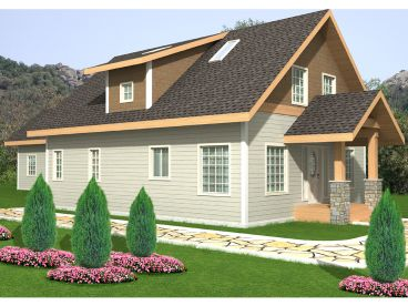 Narrow Lot House Plan, 012H-0198