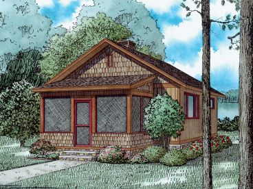 Cabin House Plan, 025H-0353