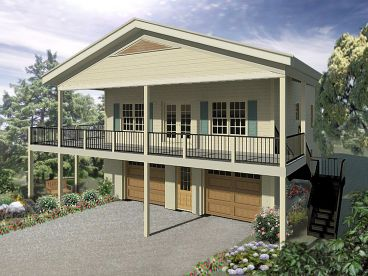 Garage Apartment Plan, 006G-0171