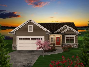 Empty-Nester Home Plan, 020H-0311