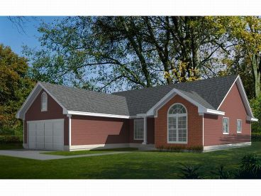 Ranch Home Plan, 026H-0017