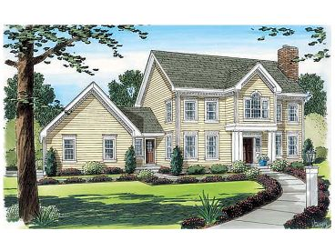 Colonial House Plan, 047H-0038