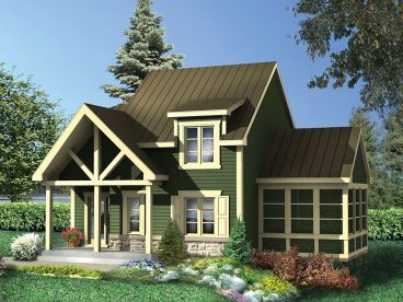Cabin Home Plan, 072H-0222