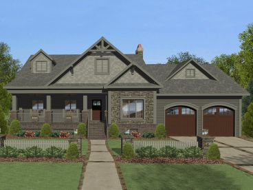 Ranch House Plan, 007H-0145