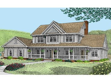 Country Home Plan, 044H-0032