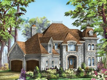 Unique European Home Plan, 072H-0239