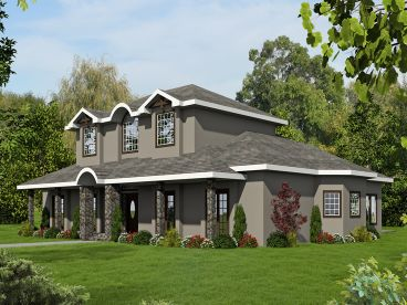 European House Plan, 012H-0252