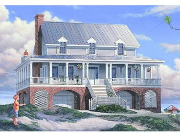 Beach Home Plan, 063H-0055