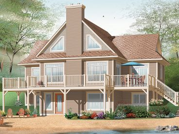 Waterfront Home Plan, 027H-0289