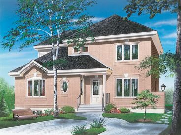 Two-Story House Design, 027H-0149