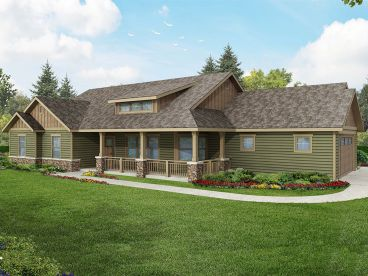 Ranch Home Design, 051H-0215