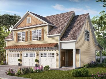 Carriage House Plan, 019G-0014