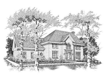 Two-Story Home Design, 061H-0104