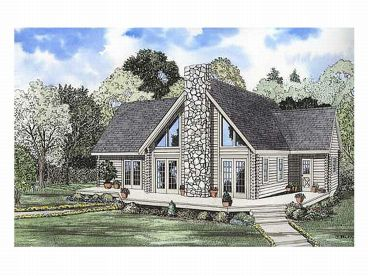 2-Story Log House Plan, 025L-0011