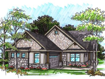 Empty-Nester Home Plan, 020H-0239