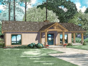 Cabin Home Plan, 025H-0355