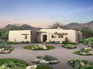 Adobe Home Plan, 057H-0012