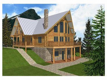 Waterfront Log House, 012L-0003