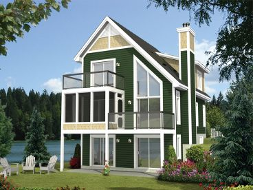 Narrow Lot Home Plan, 072H-0209