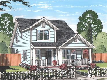 Narrow Lot House Plan, 059H-0201