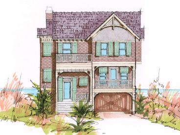 Narrow Lot Home Plan, 041H-0098