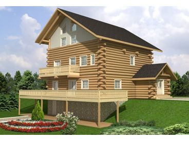 Mountain Log Home, 012L-0068