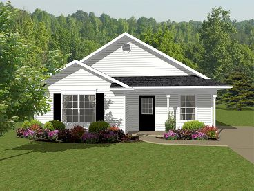 Cottage Home Plan, 004H-0101