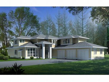 Contemporary House Plan, 026H-0030
