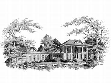 Plantation House Plan, 007H-0112