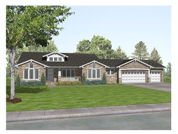 Craftsman House Plan, 016H-0017