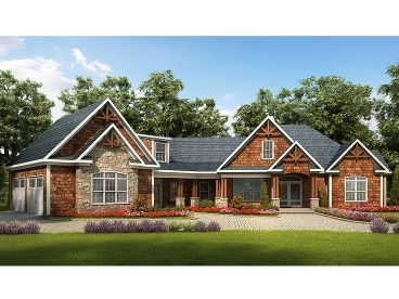 Craftsman House Plan, 019H-0159