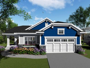 Empty-Nester House Plan, 020H-0438
