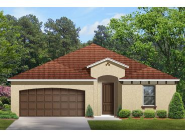 Narrow Lot Home Plan, 064H-0032