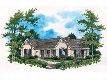 Sunbelt House Plan, 021H-0093