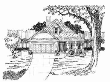 One-Story House Plan, 019H-0082