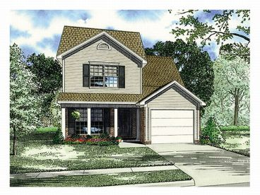 Narrow Lot Home Plan, 025H-0030