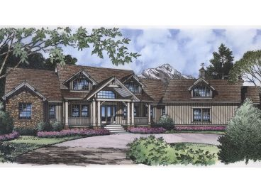 Craftsman House Plan, 043H-0206