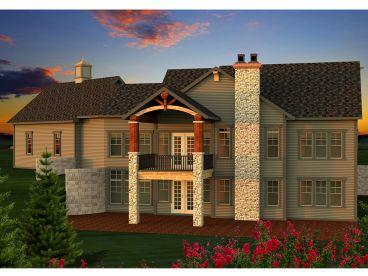 Mountain house plans mountain home plan designed for a for Mountain house plans rear view