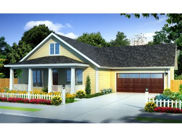 Small Ranch House Plan, 059H-0180