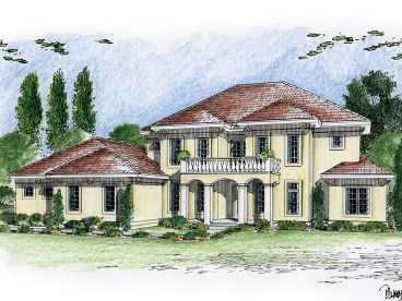 Tuscan House Plan, 050H-0038