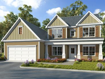 Two-Story House Plan, 019H-0196