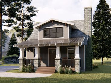 Vacation Cottage House Plan, 050H-0147
