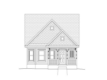 Narrow Lot Home Plan, 062H-0019