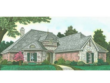 European Ranch House Plan, 002H-0124