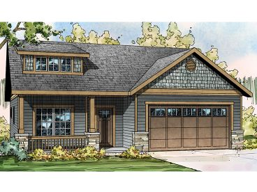 Narrow Lot House Plan, 051H-0214