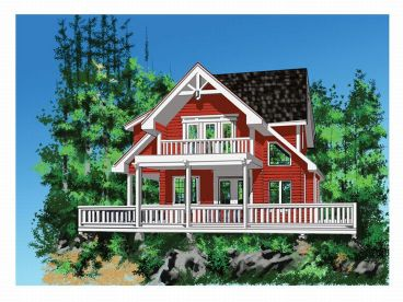Vacation House Plan, 010H-0005