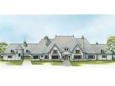 European House Plan, 008H-0052