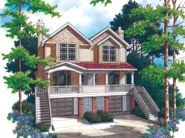 Duplex House Design, 034M-0011
